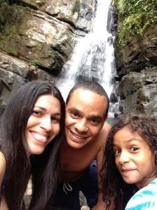 Yomaris, Angel y Angélika en El Yunque, Puerto Rico