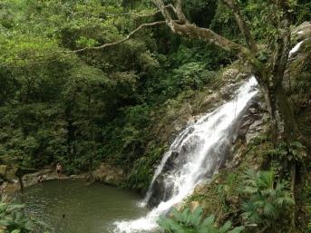 Cascada Marinka, en Minca, en Sierra Nevada de Santa Marta, Colombia.