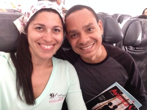 Yomaris y Angel en vuelo Avianca